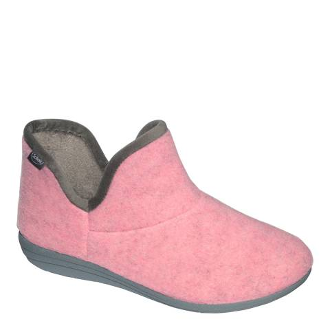 Scholl Pink Creamy Bootie Slippers
