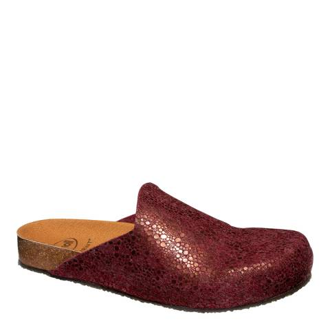 Scholl Burgundy Greeny Bubble Slippers