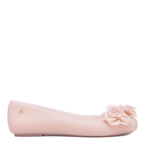 Melissa Nude Pink Space Love Flower Ballet Pumps