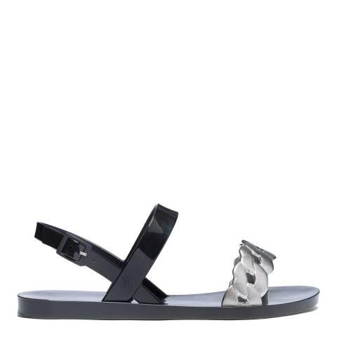 Melissa Black Lip Links Flat Sandals