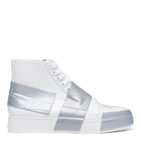 Melissa White Contrast Crew 22 Sneakers