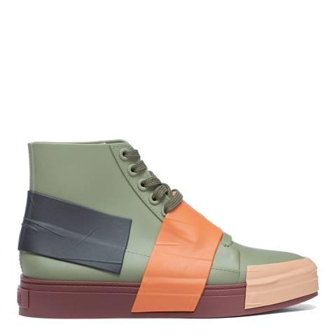 Melissa Khaki Contrast Crew 22 Sneakers
