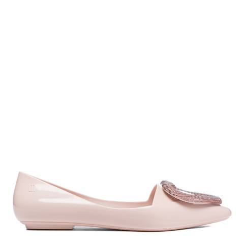 Melissa Pink Pointy Heart Flat Shoes