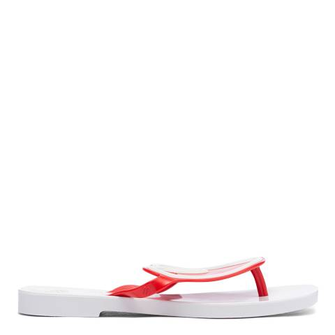 Vivienne Westwood for Melissa White Contrast VW Sun Heart Sandals