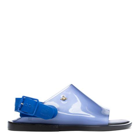 Vivienne Westwood for Melissa Blue VW Contrast Twist Sandals