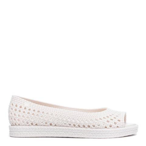 Melissa + Jason Wu Cream Melissa Camilla + Jason Wuu Flat Shoes