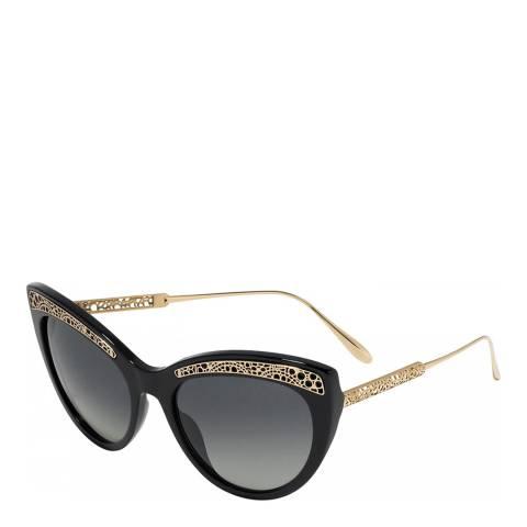 Chopard Women's Black/Gold Chopard Sunglasses 56mm