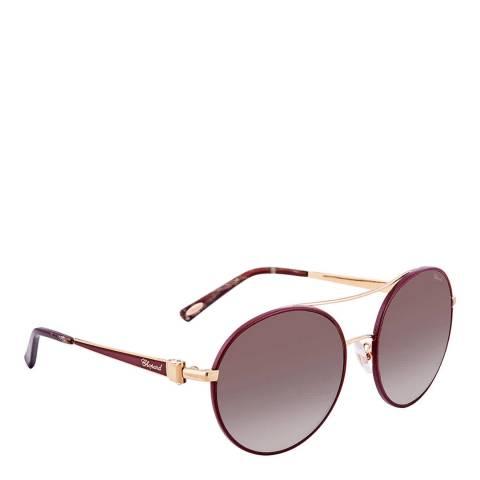 Chopard Women's Burgundy Chopard Sunglasses 57mm
