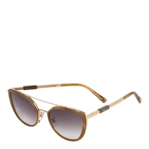 Chopard Women's Gold Glitter Chopard Sunglasses 57mm