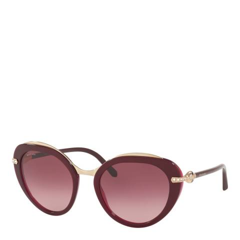 Bvlgari Women's Burgundy Bvlgari Sunglasses 55mm