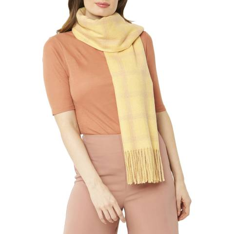 JayLey Collection Yellow Cashmere Blend Scarf