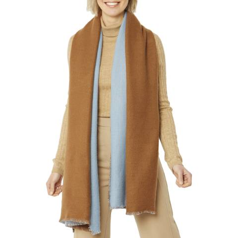 JayLey Collection Brown Cashmere Blend Wrap
