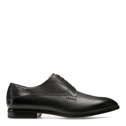 BALLY Black Lantel Leather Derby Shoes