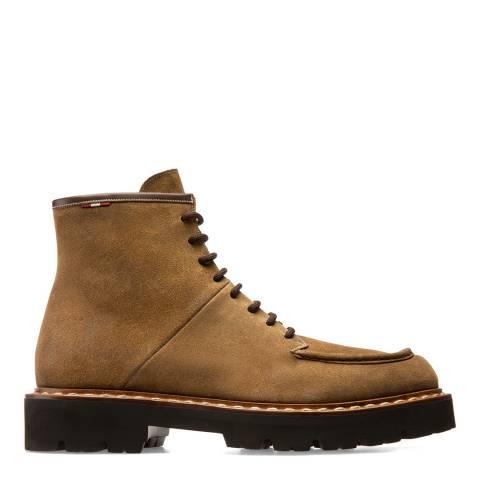 BALLY Beige Suede Lybern Boots