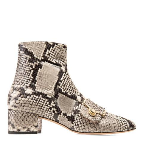 BALLY Grey Maggye Leather Ankle Boots