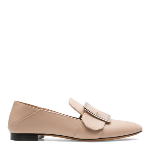 BALLY Cream Leather Janelle Loafers