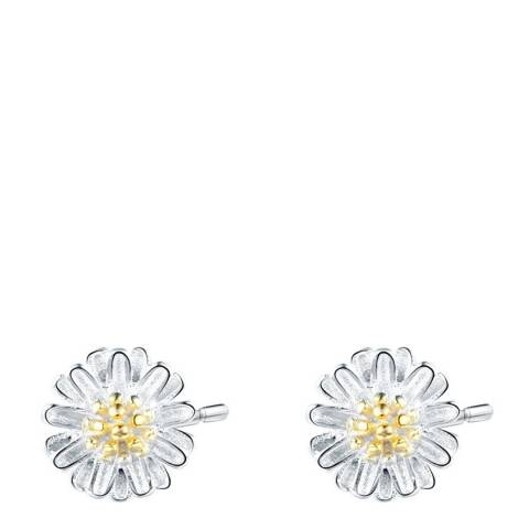 Ma Petite Amie Silver Plated Petal Earrings