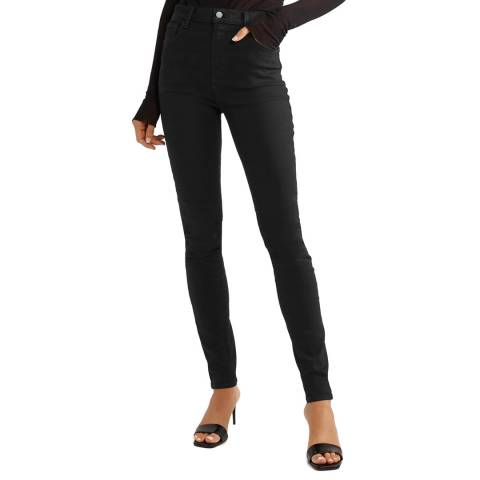 J Brand Black Carolina Super High Skinny Stretch Jeans