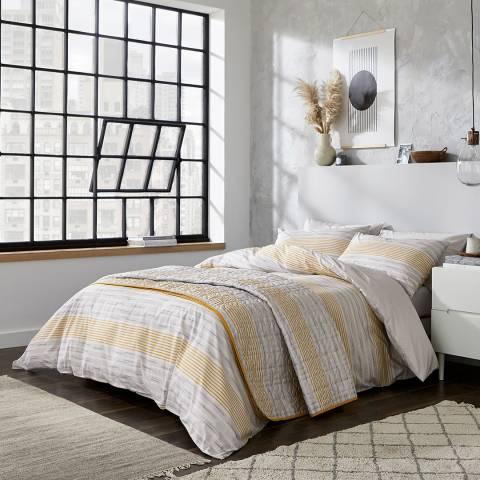 DKNY Soho Stripe Double Duvet Cover Set, Grey