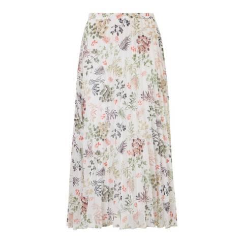 Baukjen Soft White Foliage Print Isobel Skirt