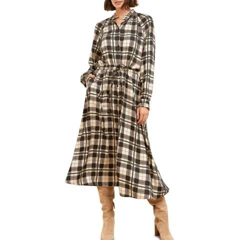 Baukjen Cream Heritage Check Tilda Dress