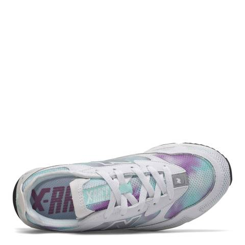 New Balance White/Violet X-Racer Sneaker