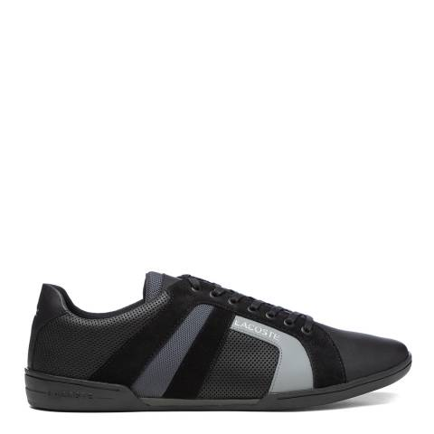 Lacoste Black & Dark Grey Chaymon Club 120 2 Trainers