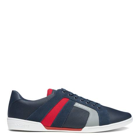 Lacoste Navy & Red Chaymon Club 120 2 Trainers