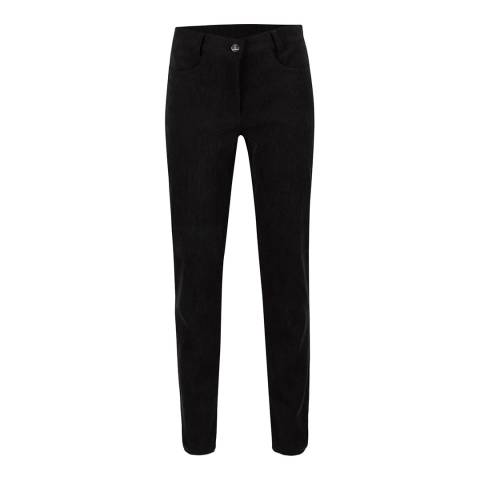 GOLFINO Black Feathers Corduroy Trousers