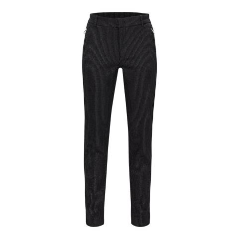 GOLFINO Black Feathers Silver Trousers