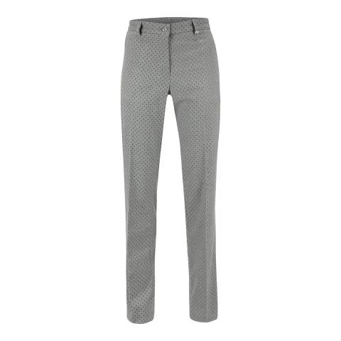 GOLFINO Grey Leopard Dotted Trousers