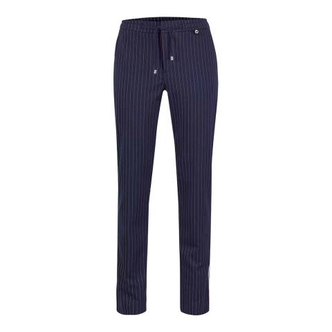 GOLFINO Navy Revolution Striped Trousers