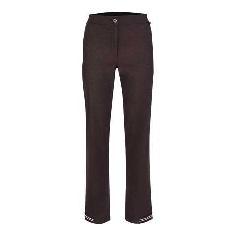 GOLFINO Merlot Stretch Snakeskin Trousers