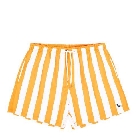 Dock & Bay Orange Stripe Swim Short