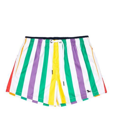 Dock & Bay Rainbow Stripe Swim Short