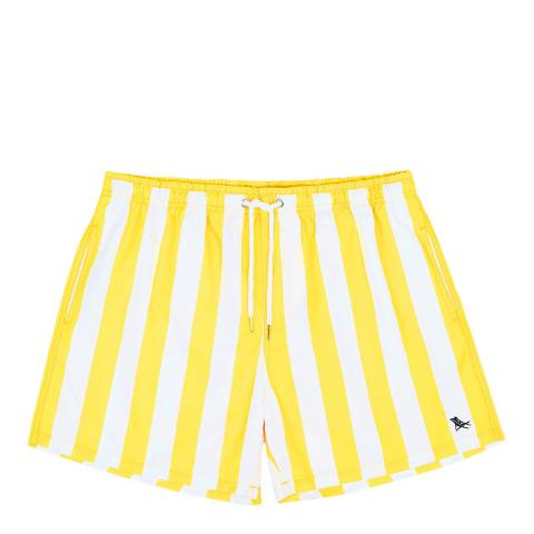 Dock & Bay Stripe Swim Short, Yellow