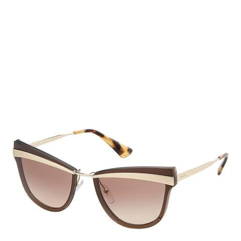 Prada Women's Brown/Gold Prada Sunglasses 65mm