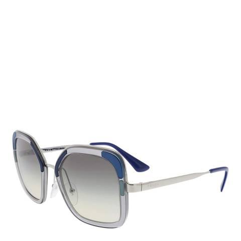 Prada Women's Silver/Blue Prada Sunglasses 54mm