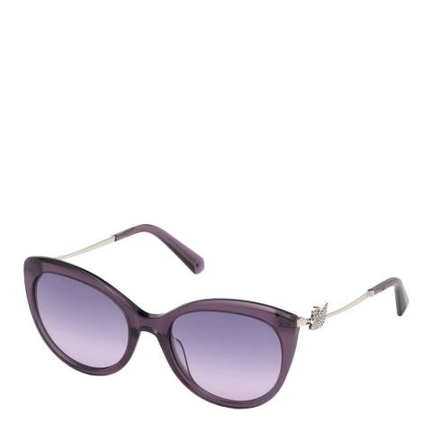 SWAROVSKI Women's Purple/Silver Swarovski Sunglasses 54mm