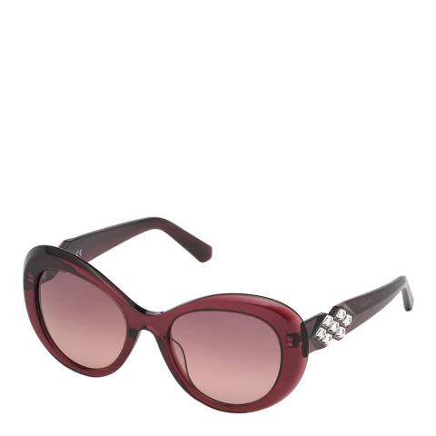 SWAROVSKI Women's Red/Silver Swarovski Sunglasses 54mm