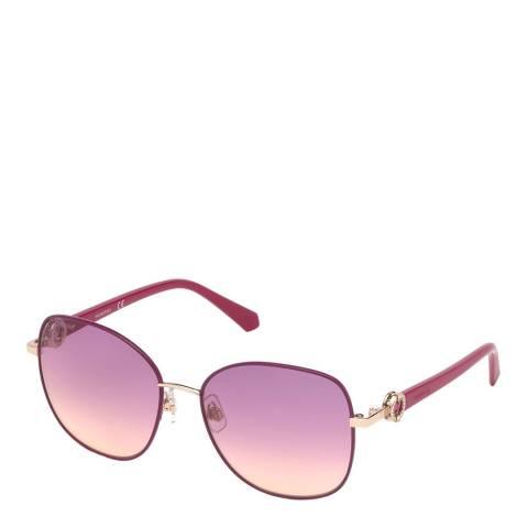 SWAROVSKI Women's Pink Swarovski Sunglasses 58mm