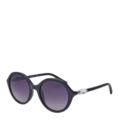 SWAROVSKI Women's Black/Purple Swarovski Sunglasses 51mm