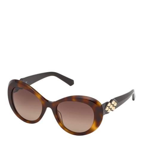 SWAROVSKI Women's Brown Swarovski Sunglasses 54mm