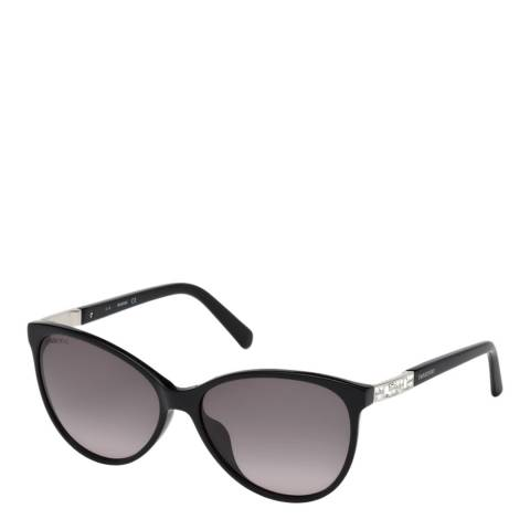 SWAROVSKI Women's Black/Silver Swarovski Sunglasses 58mm