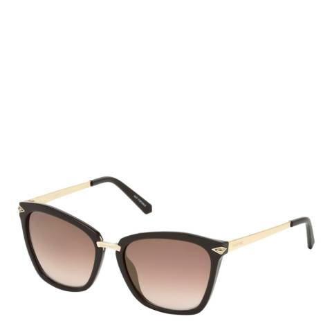 SWAROVSKI Women's Black/Gold Swarovski Sunglasses 54mm
