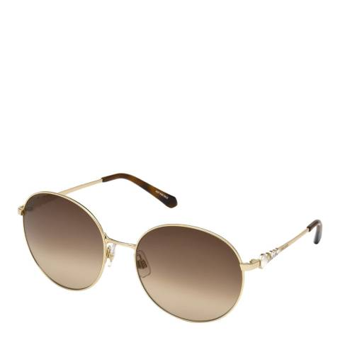 SWAROVSKI Women's Brown/Gold Swarovski Sunglasses 61mm
