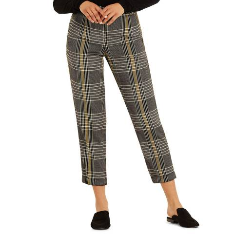 Amanda Wakeley Ecru Novelty Peg Wool Trousers