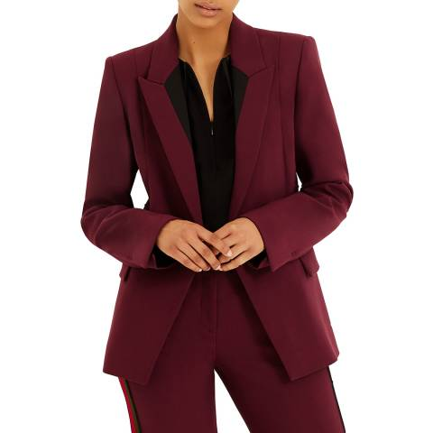 Amanda Wakeley Dark Purple Sculpted Tailoring Blazer