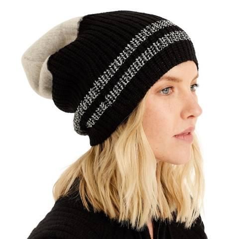 Amanda Wakeley Green Multi Double Stripe Cashmere Hat