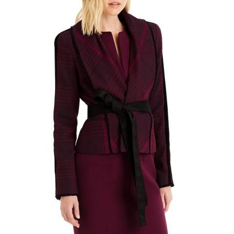Amanda Wakeley Red Check Novelty Wool Jacket